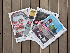 Series of front covers of Moscovskie Novosti newspaper